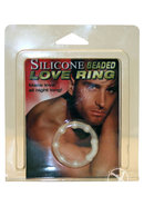 Silicone Beaded Love Ring Clear