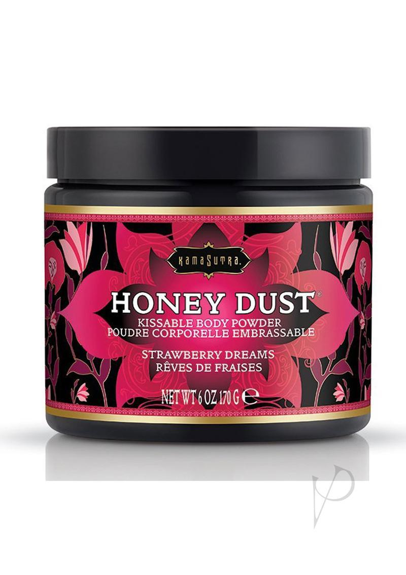 Kama Sutra Honey Dust Kissable Body Powder Strawberry Dreams 6 Ounce